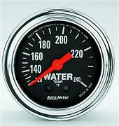 Autometer Gauge,water Temp,2 1/16,120-240 Degrees F,mechanical,12ft.,traditiona