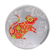 2020 Macau Lunar Year Of The Rat Colorized 1 Oz Silver Proof Coin - 8000 Made
