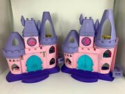 Fisher Price 2012 Little People Disney Princess Castle Lot Of 2 Audio Works