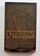 1930and039s Whistle Soda Elves Letter Press 7 Printing Plate Wood Copper