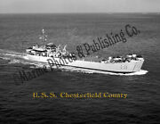 Uss Chesterfield County Lst 551 Canvas Photo Print
