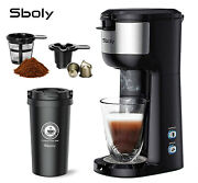 Sboly Coffee Machine Brewer Maker With Thermal Mug Espresso K-cup Self-cleaning