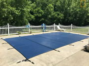 Solid Inground Cover Pool For Safety Rectangle Mesh Swimming 2040ft Winter Pool