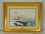 Thomas Kinkade Block Island Archive Collection 1998 Framed Canvas Litho Numbered