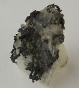 Native Silver Wires On Calcite - 1.5 Cm - Kongsberg, Norway 24678