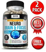2 Pack Neuro Brain And Focus Memory Function Clarity Nootropic Supplement