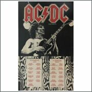 Ac/dc Fly On The Wall Tour Poster 1986 Europe