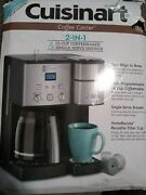 Cuisinart 2-in-1 Coffee Center 12 Cup And Single Serve Brewer Maker New Ss-15p1