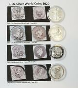 Wow 20 999. Silver Coins 2020 Bu World Coins With Display Case And Labels