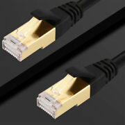 40gbps Super Speed Cat 8 Ethernet Rj45 Cable Patch Lan Network Gold 50ft 66ft