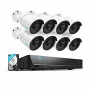 Reolink 4mp 16ch Poe Video Surveillance System 8pcs Wired Outdoor 1440p Poe Ip