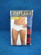 Polo Variety Blue Briefs Underwear Classic Fit 4 Pack Mens Large L