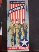 U S Army / Stamps / Los Angeles Times Spirit Of And03942 Stamp Album 1st Edition 1942