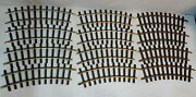 Bachmann G Scale, New Solid Brass Track, 12 Sections 4 Ft Curves
