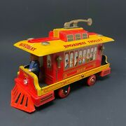 Broadway Trolley Battery Operated Tin Toy Modern Toys 1960's - Works - Vintage