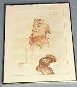 1981 Us Marine Corps Major Pappy Boyington Signed And Inscribed Framed Print