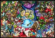 Tenyo Disney Alice In Wonderland Story Stained Glass 1000 Pieces Jigsaw Puzzle