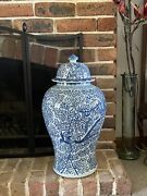 A Large Size Chinoiserie Blue And White Chinese Porcelain Ginger Jar Pot