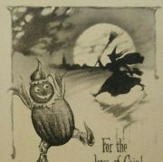 Vintage Halloween Postcard The Pink Of Perfection Sepia Original Witch Goblin
