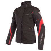 Motorcycle Jacket Woman Dainese Tempest 2 Lady D-dry Black Red Tg 46 Jacket