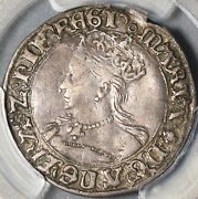 1553 Pcgs Vf 35 Queen Mary Groat 4 Pence Great Britain England Coin 21020303c