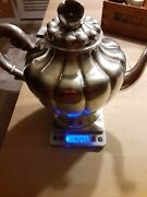 Maciel .925 Sterling Silver Solid Not Weighted Teapot. Beautiful Craftmanship.