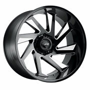 24 Inch 24x14 Tuff T1b Black Milled Right Wheels Rims 8x6.5 8x165.1 -72