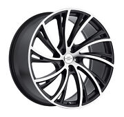 20 Inch 20x9.5 Redbourne Noble Black Machined Right Wheels Rims 5x120 +32