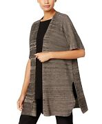 Eileen Fisher Womens Sweaters Brown Size Xl Cardigan Marled-knit 298- 260