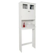 Bathroom Storage Over The Toilet Space Saver With Three Shelves Bath Cabinet