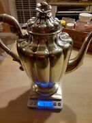 Maciel .925 Sterling Silver Teapot Solid Sterling Not Weighted. Beautiful Piece