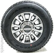 """4 New Ford F250 F350 Super Duty 18"""" Factory Charcoal Machined Wheels Rims Tires"""