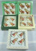 Vintage Christmas Glass Ornaments Victorian Roses Bells And Balls By Krebs 5 Boxes