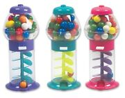 3 Pack 7 Spiral Galaxy Colorful Gumball Machine - Dubble Bubble Twirling