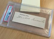 Theodore Teddy Roosevelt Cut Autograph Psa/dna Slab Early Signed Index Card Bold
