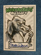 Wacky Packages 2012 Old School 4 1/1 B/w Sketch Card By Strephon Taylor
