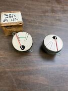 1939 Lincoln Zephyr Dash Gas / Fuel And Temperature Indicator Gauges Nos Ford 121