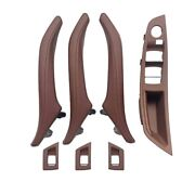 For Bmw 5 Series F10 F11 Interior Leather Door Handle Red Wine One Hole Set Rhd