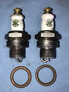 2 Ac Ihc Truck Tractor D6 Vintage Antique Spark Plugs 18mm Threads 1920 - 1950s