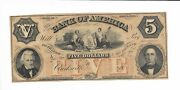 5 Clarksville Tennessee Bank America Note Lace Red Five Op Crisp Uncirculated