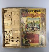 Antique Reed Toy Building Blocks Set, Paper Litho Cover