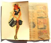 Vintage 1940's Meyercord 888 Pin Up Maid Girl Dress Decal