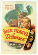 Rare Orig Vtg 1947 Dick Tracyand039s Dilemma One 1-sheet Movie Poster Ralph Byrd
