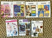 Lot Of 7 Uncut Purse Tote Bag Cosmetic Baby Simplicity Mccall's Sewing Patterns