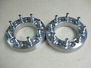 Set Of 2 - 1.5 38mm Thick Wheel Spacers For Chevy 8x6.5 108mm Bore 9/16 Studs