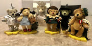 Franklin Mint Wizard Of Oz Set Of 6 Teddy Bear Collection 2000