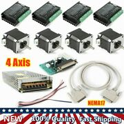 4 Axis Control Board Cnc Controller Kit Nema17 Stepper Motor For Lathes Machine