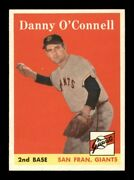 1958 Topps Set Break 166 Danny O'connell Nm-mint Obgcards