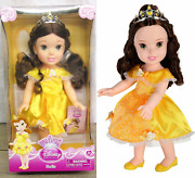 New My First Disney 15 Doll Princess Belle Beauty And Beast Sparkling Dress Tiara