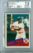 1985 Topps Mini 150 Jim Rice Hofer Tan Proof Bgs 7.5 5 Made Extremely Rare